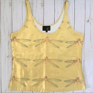 Just Cavelli gold metallic dragonfly tank